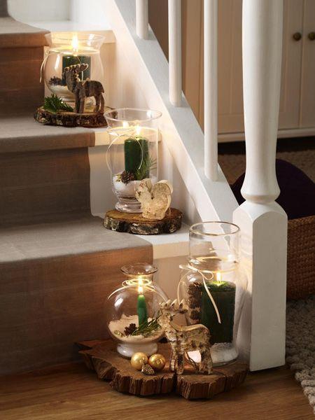diy tipp weihnachtliche windlichter licht pinterest weihnachten weihnachtsdekoration und. Black Bedroom Furniture Sets. Home Design Ideas