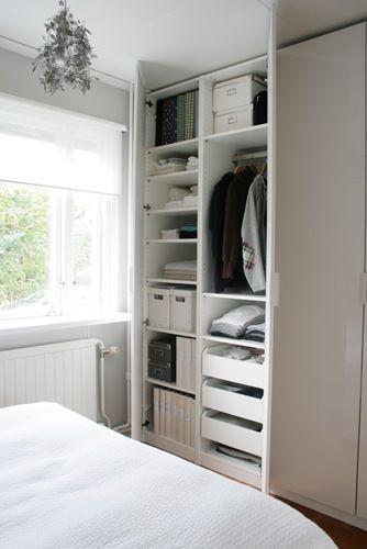 Ikea Pax   Bedroom Wardrobes Next To A Window