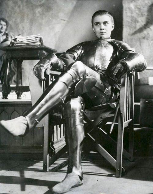 61eccf4e Jean Seberg on the set of Saint Joan, 1957 | armor