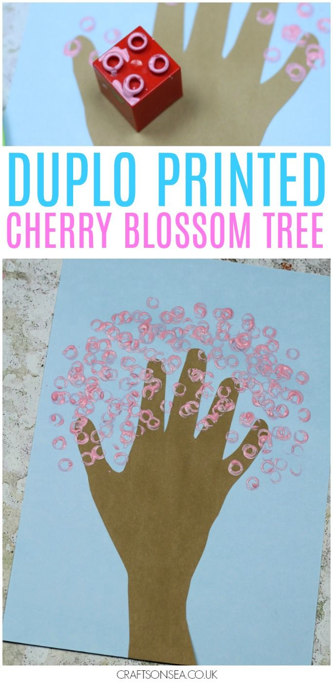 Duplo Handprint Cherry Blossom Tree