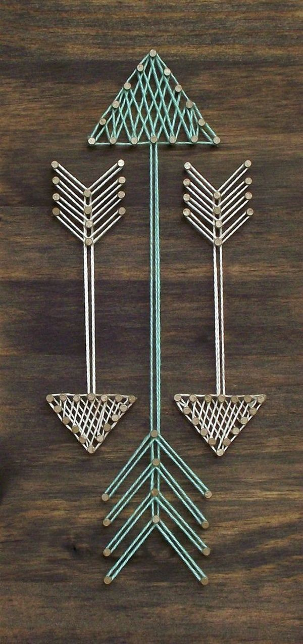 60 amazing string art pattern ideas string art patterns string mini arrows string art sign arrow sign arrows wooden sign handmade mini wooden sign with string art this item is made with the highest quality wood solutioingenieria Image collections