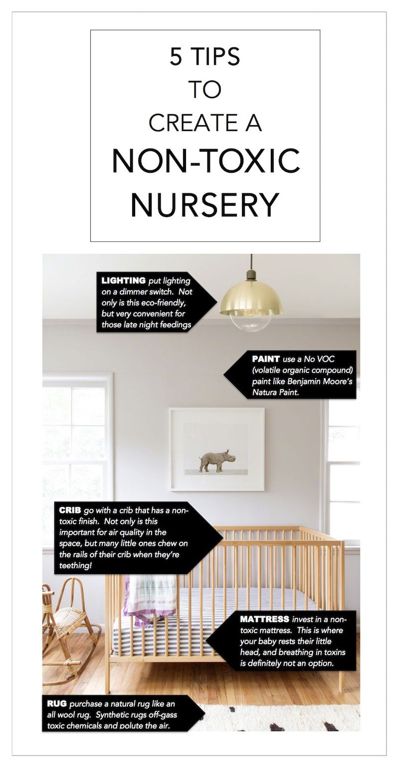 5 Tips To Create A Non Toxic Nursery 22crowns Eco Friendly Organic Boho Ikea Crib Gold Pendant Animal Print