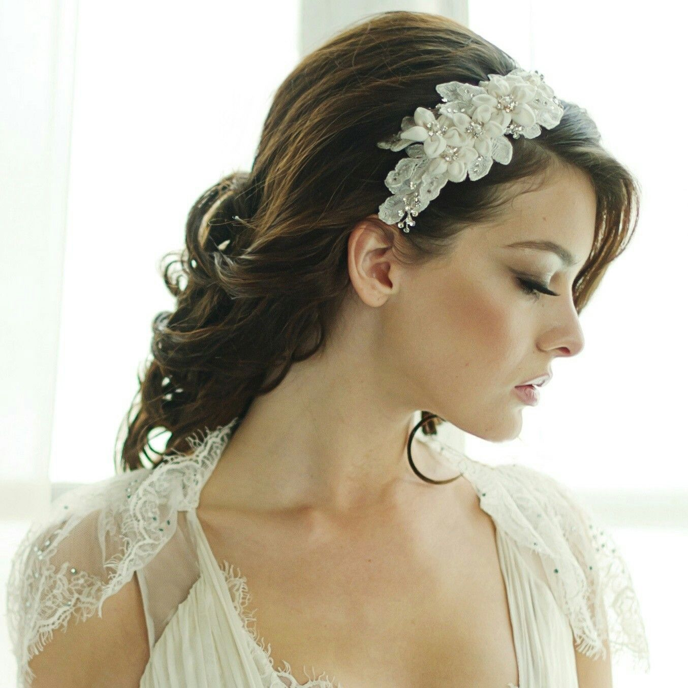 pin by maha almusawi on hair | floral headband wedding