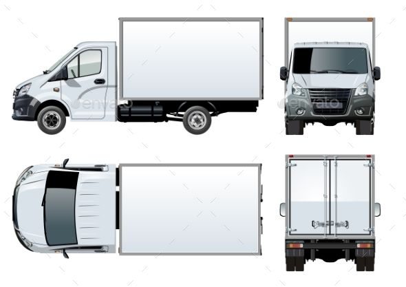 Vector Truck Template Isolated On White Trucks Truck Detailing Car Vector