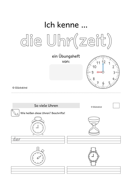 Die Uhr Klasse 20 – Unterrichtsmaterial im Fach Mathematik   Die ...