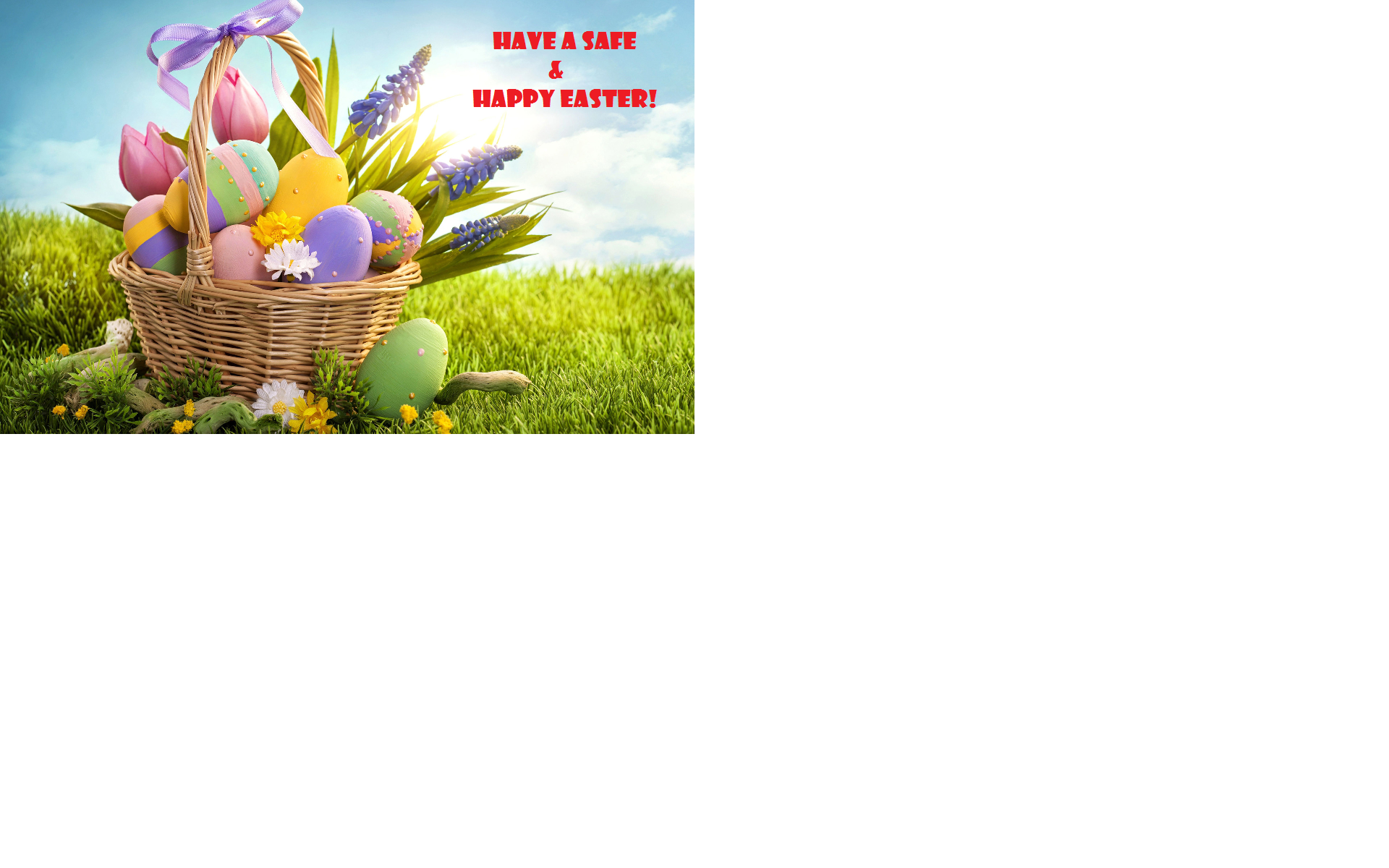 photo of easter basket with eggs