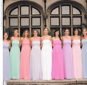 cf26c69aebc9 It's a beautiful life!: Non-matching bridesmaids   Wedding Entourage ...