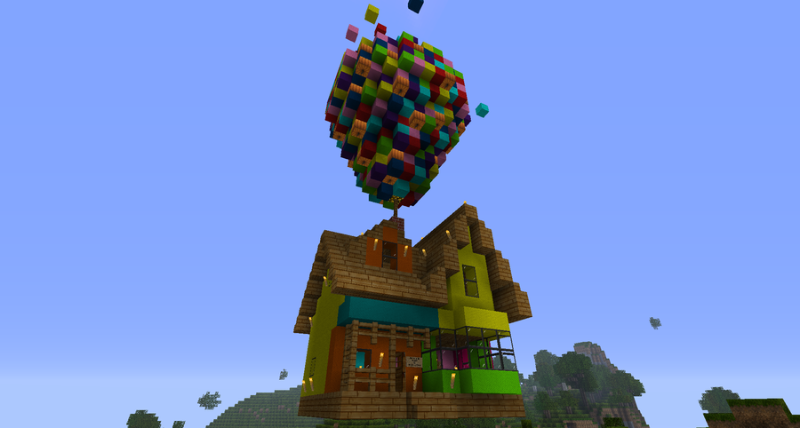 Disney 39 S Up House Build In Minecraft This Is The 2nd
