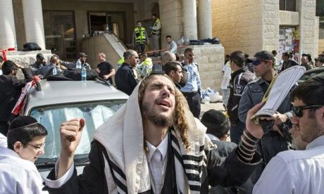 Example of multimedia story Four killed in attack on Jerusalem synagogue | World news | The Guardian