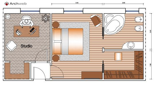 Letto zona notte dwg sleeping area bagno dormitorio for Camere albergo dwg