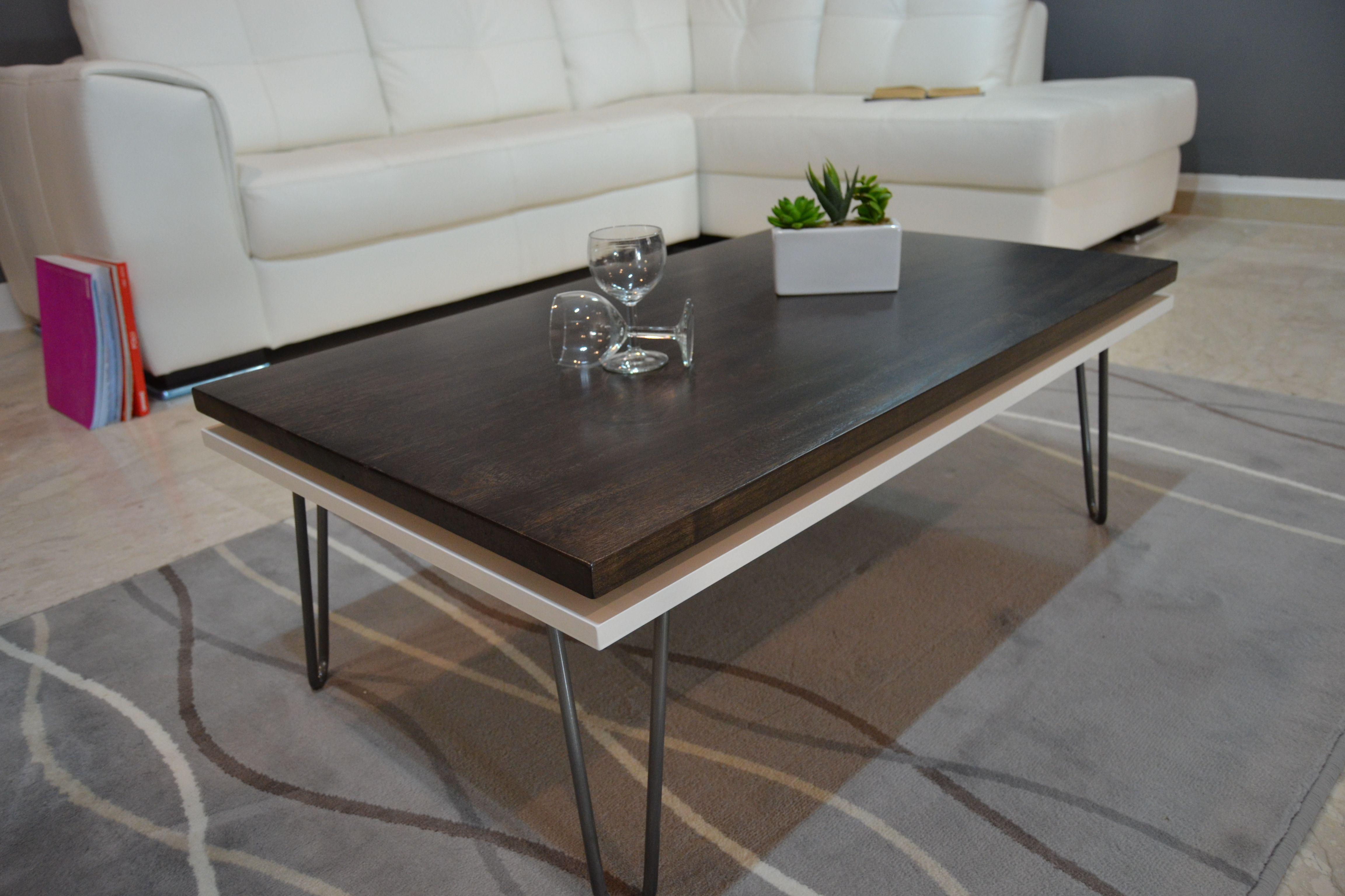 tavolino salotto legno massello tavolino soggi… | Tavolini ...