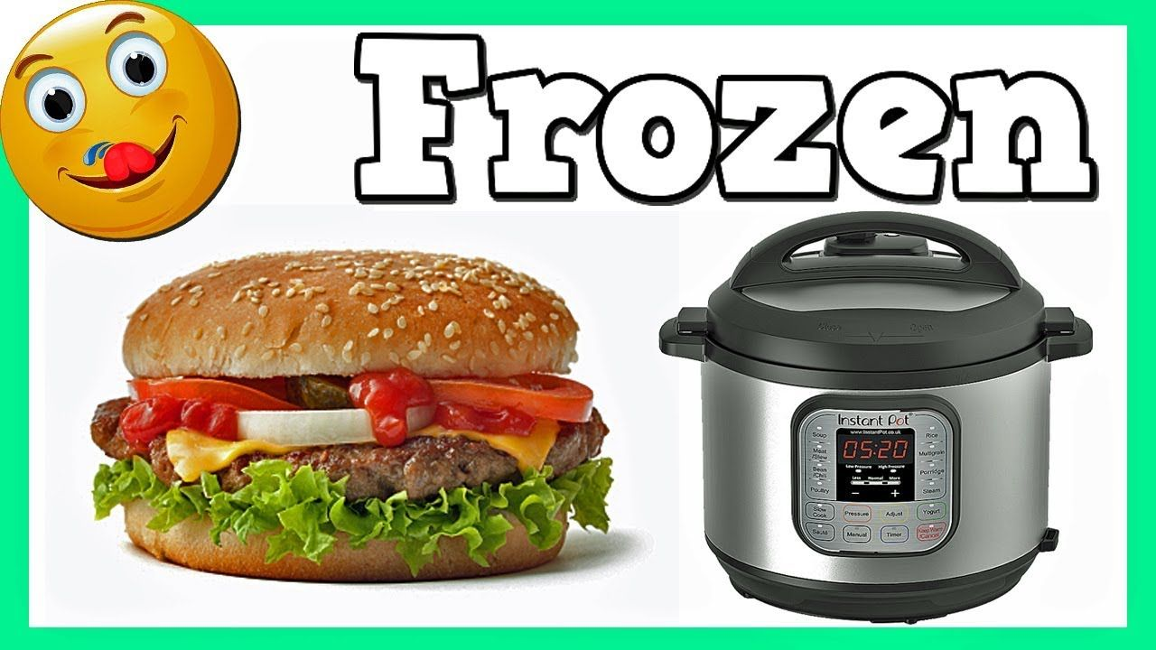 How to make hamburgers in the instant pot using frozen ...