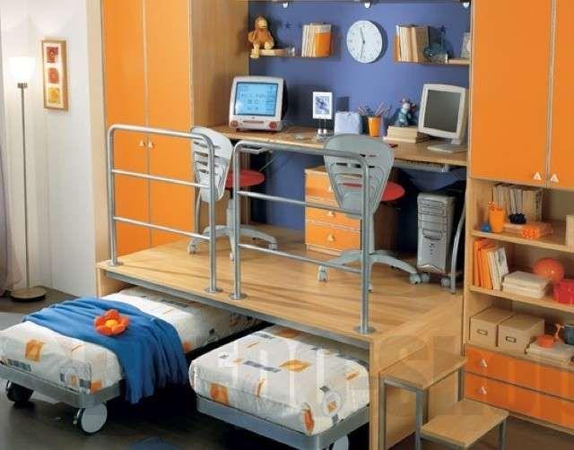 Camerette bambini salvaspazio cameretta con letti a for Poco costoso per costruire piani di casa