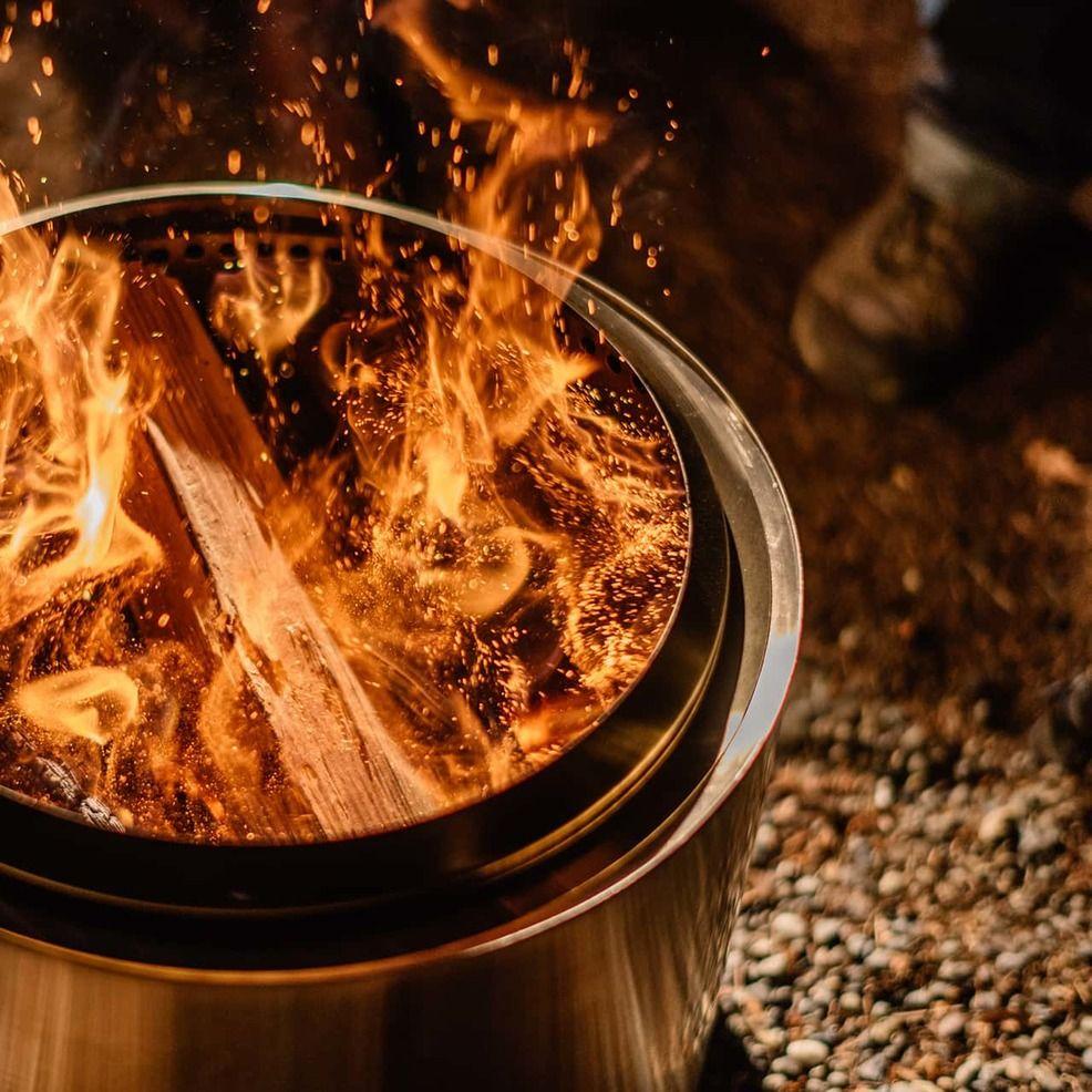 Bonfire Wood burning fire pit, Portable fire pits, Wood