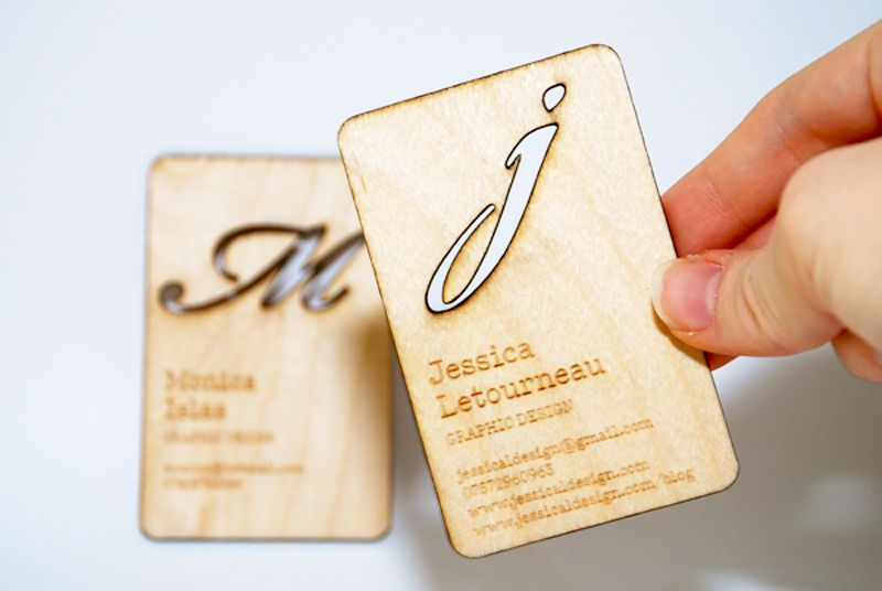 Plywood Business Cards