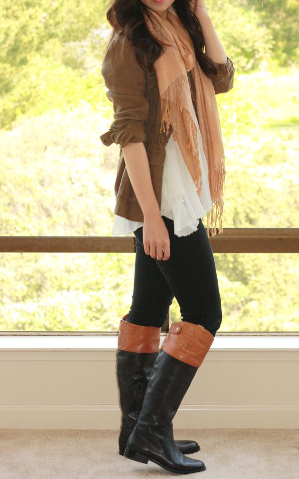 All About Fashion Stuff: Ralph Lauren Janessa Two Tone Riding Riding Boots  For Big Calves