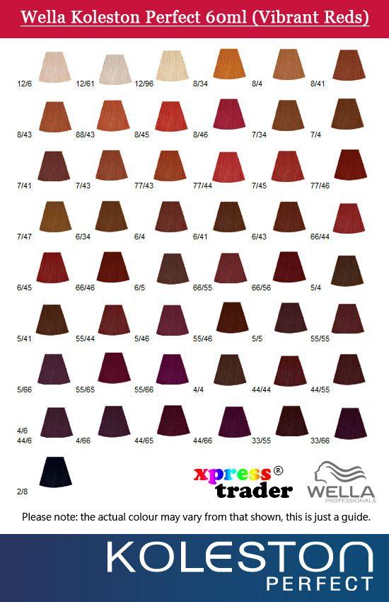 Details about wella koleston perfect permanent hair dye  vibrant salon color red also best images charts dyes rh pinterest