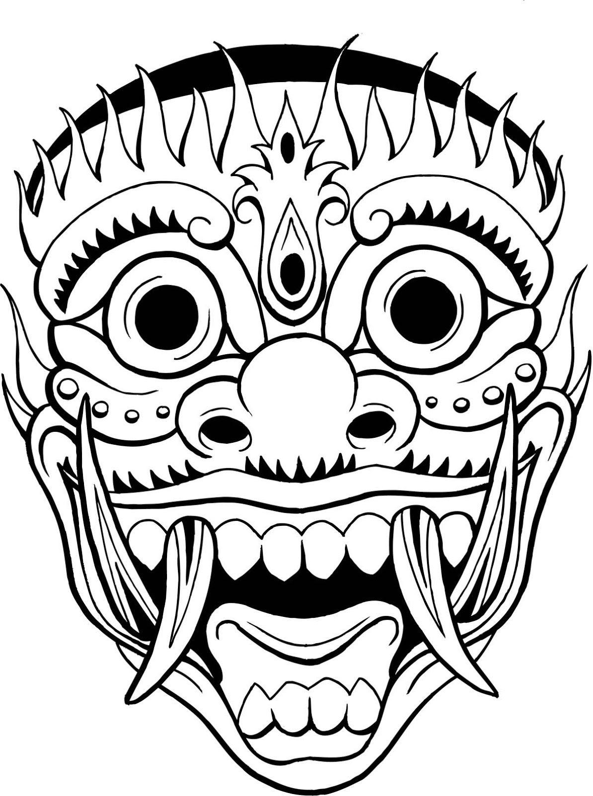 Hawaiian Warrior mask - Google 검색 | culture mask | Pinterest ...