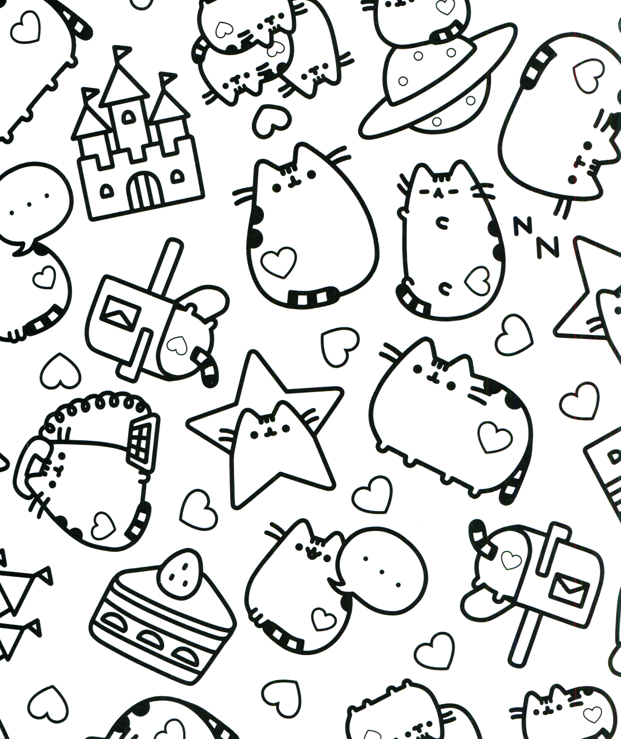 Pusheen Coloring Book Pusheen Pusheen the Cat | Mandalas y para ...