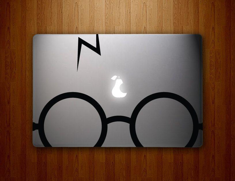 Harry Potter Glasses Macbook Decals Mac Decal Macbook Pro Decal - Macbook air decals