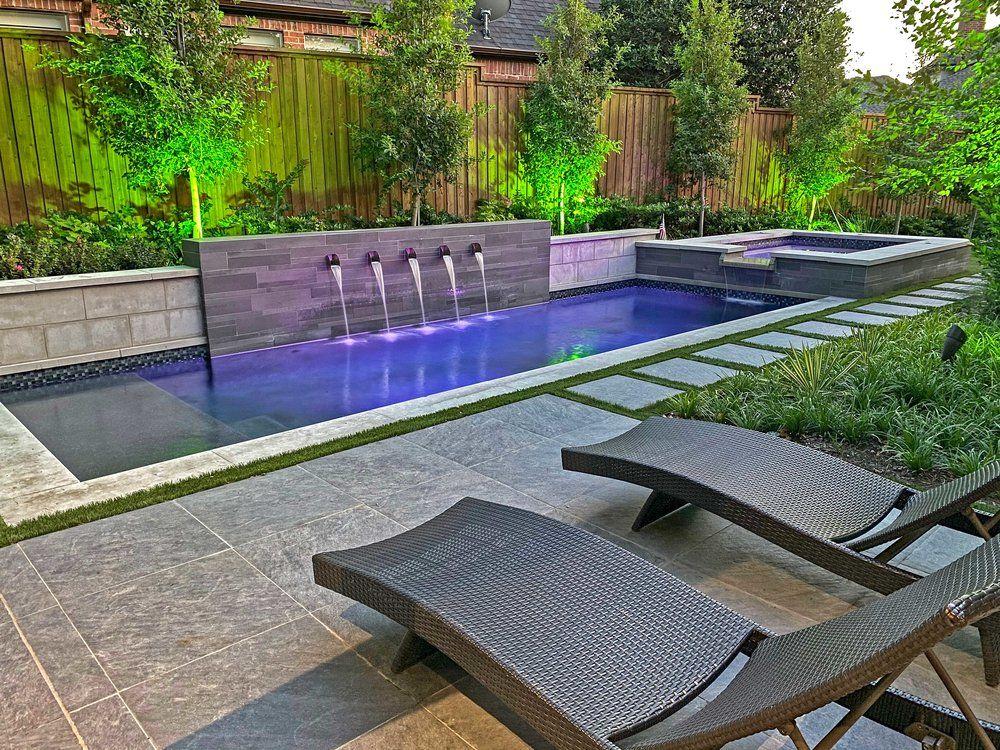 Ddla Design Modern Pool Spa Garden In 2020 Backyard Pool Designs