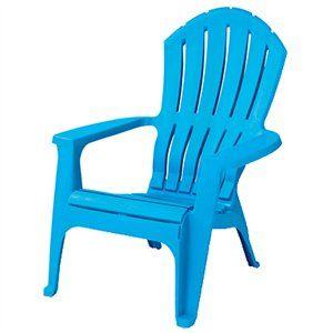 RealComfort Adirondack Chair, Ergonomic, Pool Blue Pictures