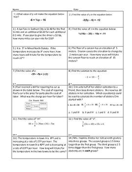 Includes Equations With One Solution No Solution And Infinite