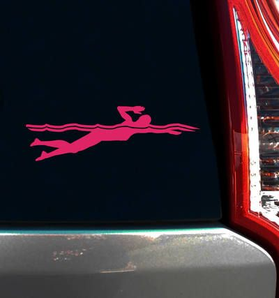 Swimmer Female Freestyle Window Decal Swimming Swim And Window - Unique car window decals