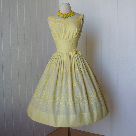 Vintage 1950's dress; Designer Pat Nichols