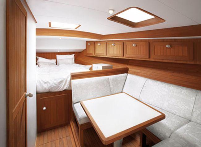 Beautiful Wooden Cabin Deisgn Of Boat Interior