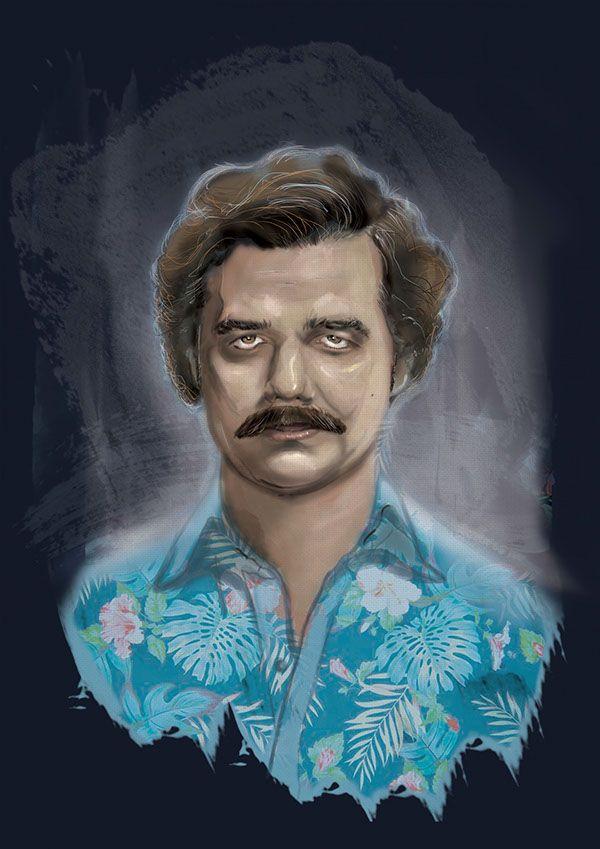 Pablo Escobar Narcos Digital Painting On Pantone Canvas Gallery Pablo Escobar Don Pablo Escobar Escobar