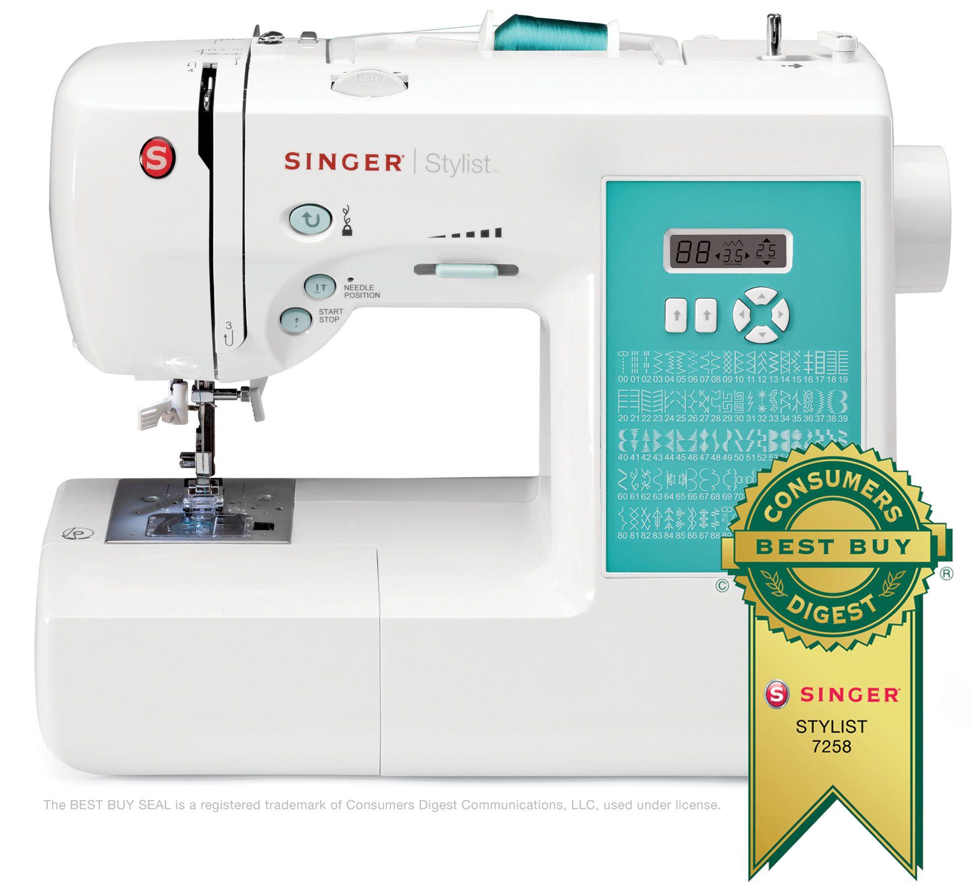 Singer 7258 Stylist Award - Winning Electronic Sewing Machine