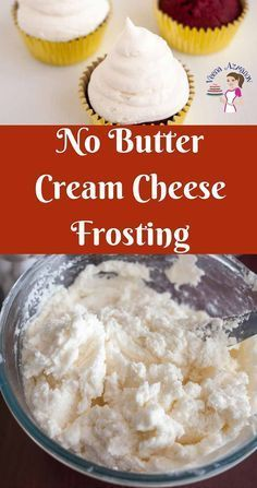 No Butter Cream Cheese Frosting Recipe - Veena Azmanov #creamcheesefrosting
