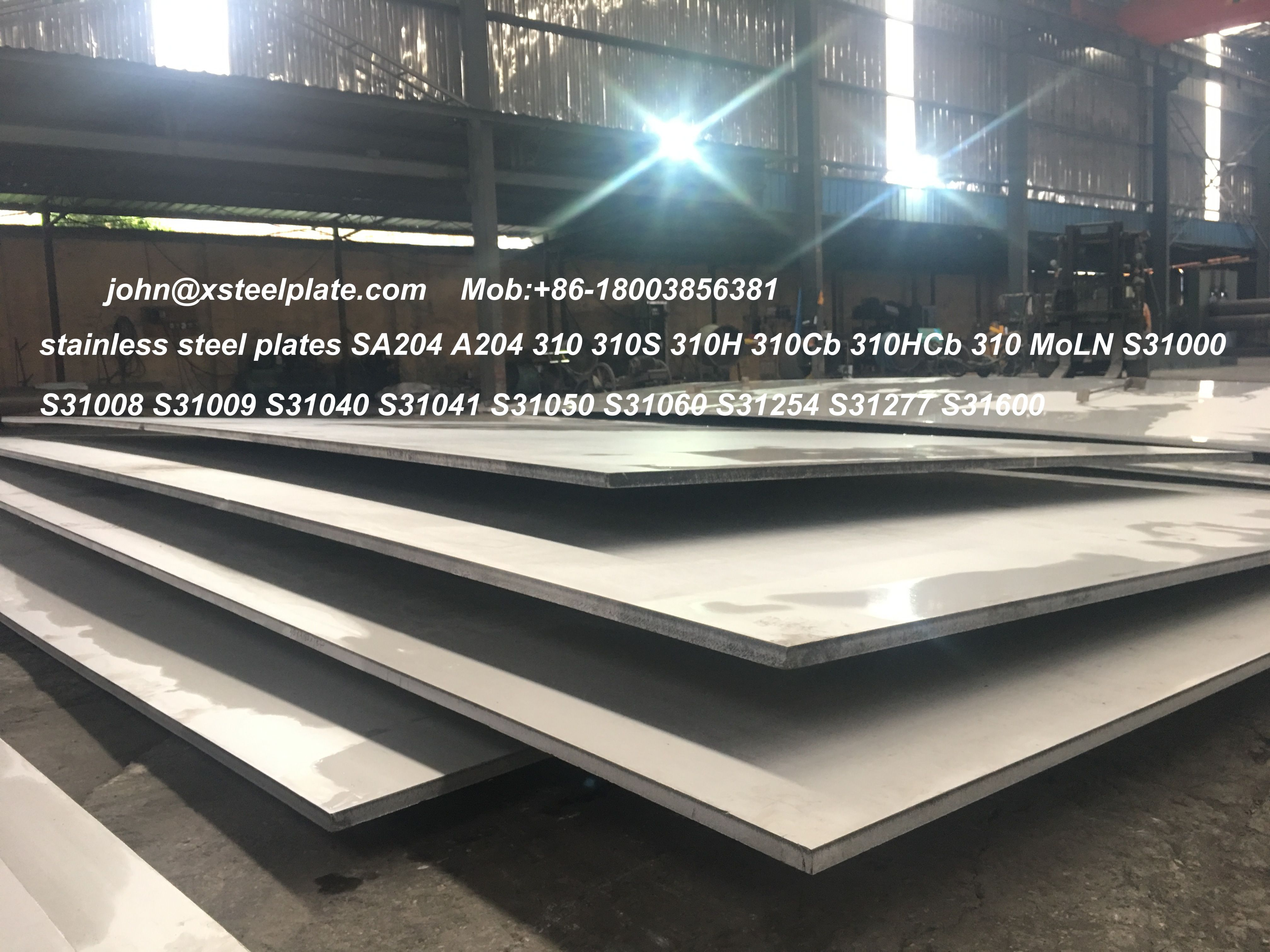 Stainless Steel Sheets Stock Of A240 Sa240 310 310s 310h 310cb 310moln Uns S31000 S31008 S31009 S31040 S31050 S31060 S31254 S31277 S31600