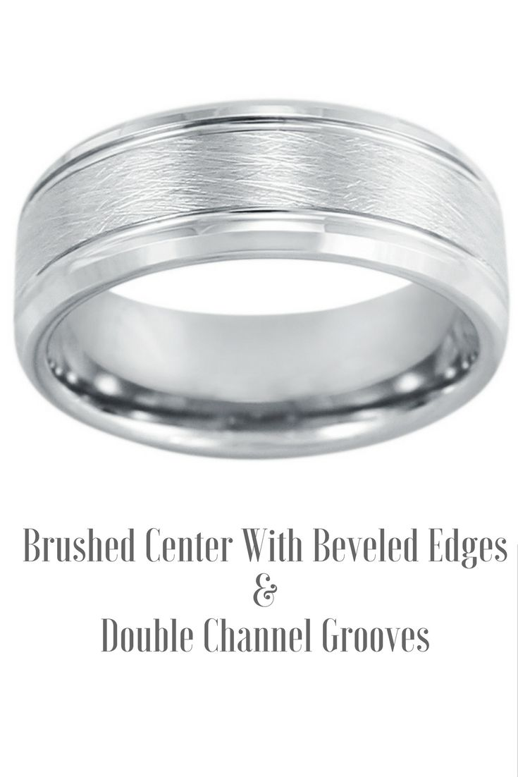 Mens Silver Brushed Tungsten Wedding Band This 8mm Mens Wedding Band Is Extremely D Brushed Tungsten Wedding Band Tungsten Wedding Bands 8mm Mens Wedding Band