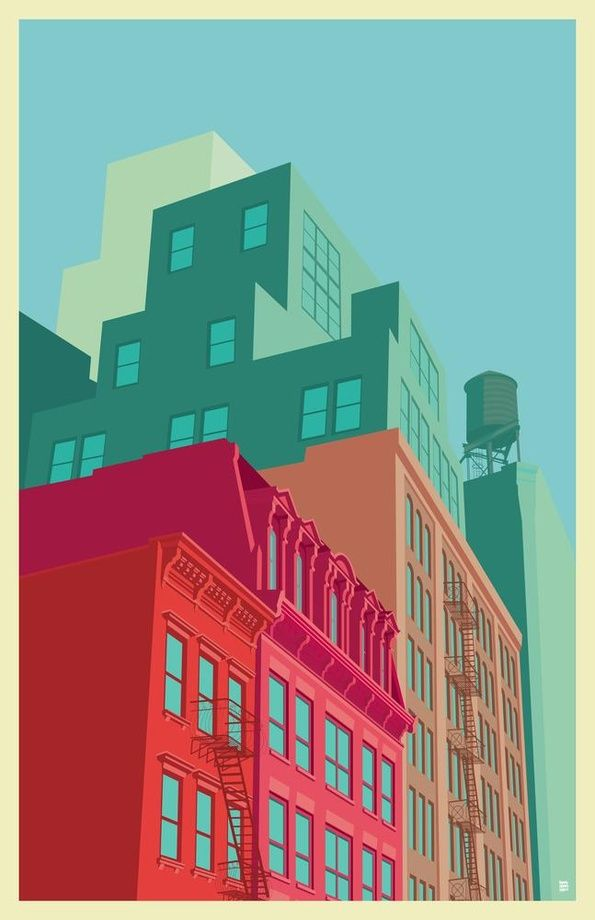 Mulberry street SOHO, an art print by Remko Gap Heemskerk