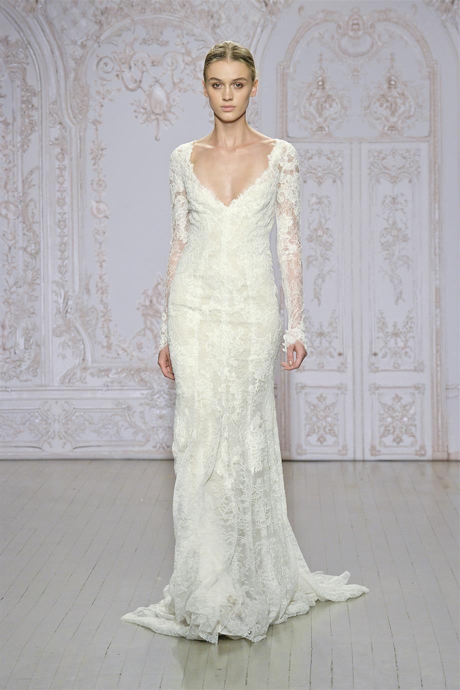 30 exquisite elegant long sleeved wedding dresses long for Buy monique lhuillier wedding dress