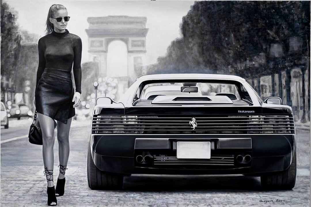 Ferrari Testarossa Ferrari Testarossa Girl Classiccars