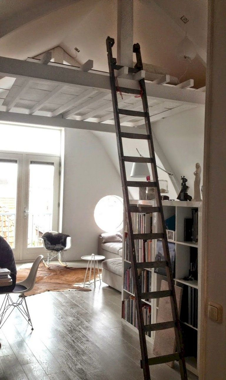 53 Awesome Efficient Tiny Loft Apartment Decorating Ideas