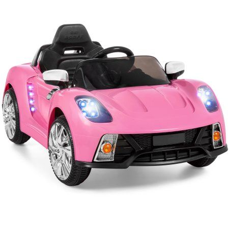 Best Choice Products 12v Kids Battery Powered Remote Control Electric Rc Ride On Car W Led Lights Mp3 Aux Pink Walmart Com Toy Cars For Kids Kids Ride On Ride