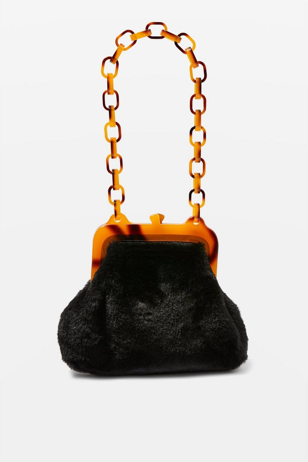 0565edd0e5 Faux Fur Frame Tortoiseshell Shoulder Bag - New In Fashion - New In -  Topshop USA