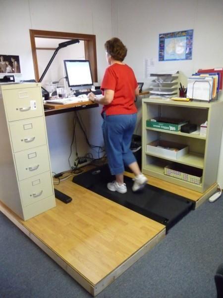 Raised Platform Recessed Treadmill Walking Desk Workspace Diy