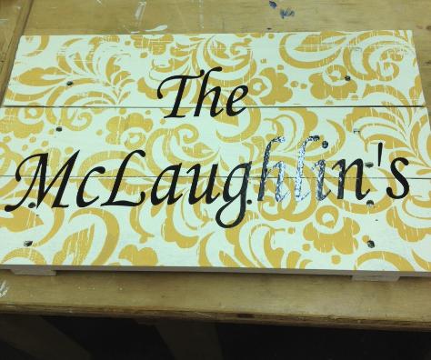 Sign or door hanger from Acrylics Plus!!