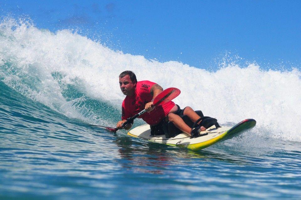 Waveski for the Disabled | Infinity Surfboards | Esportes de aventura,  Caiaque, Surf