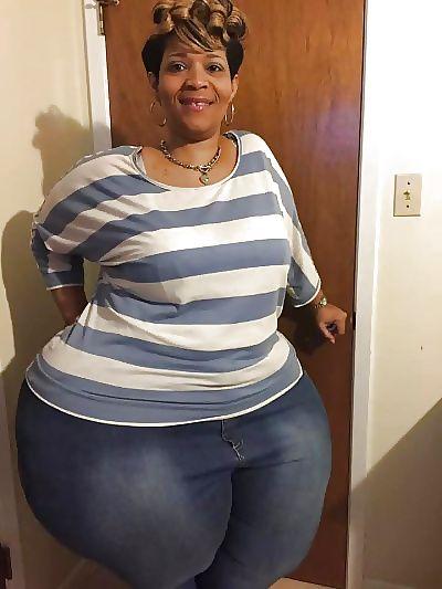 Ssbbw Woman balkc fat