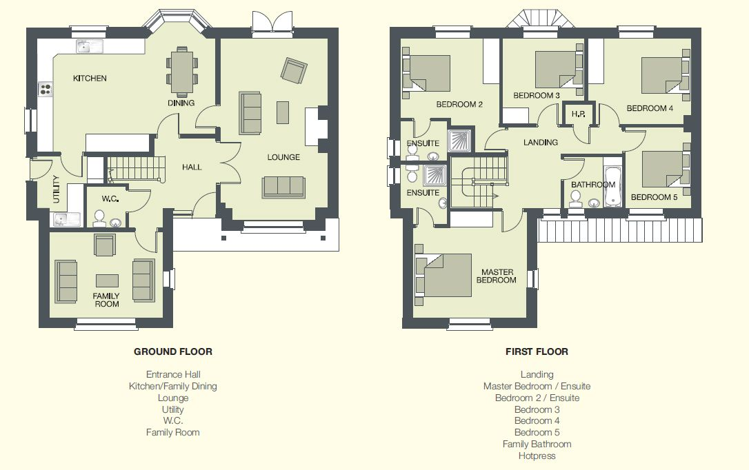 5 Bedroom House Designs 5 Bedroom House Designs  Current Developments  Marlmount Dundalk