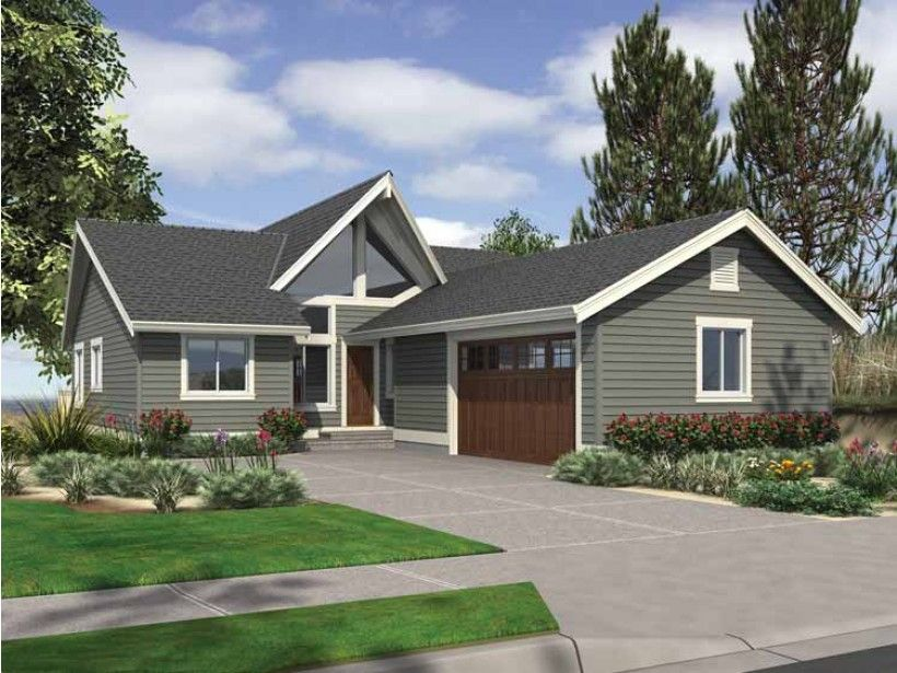 Contemporary Style House Plan 4 Beds 3 Baths 2356 Sq Ft Plan 132 541 Modern Contemporary House Plans Craftsman Style House Plans Modern Style House Plans