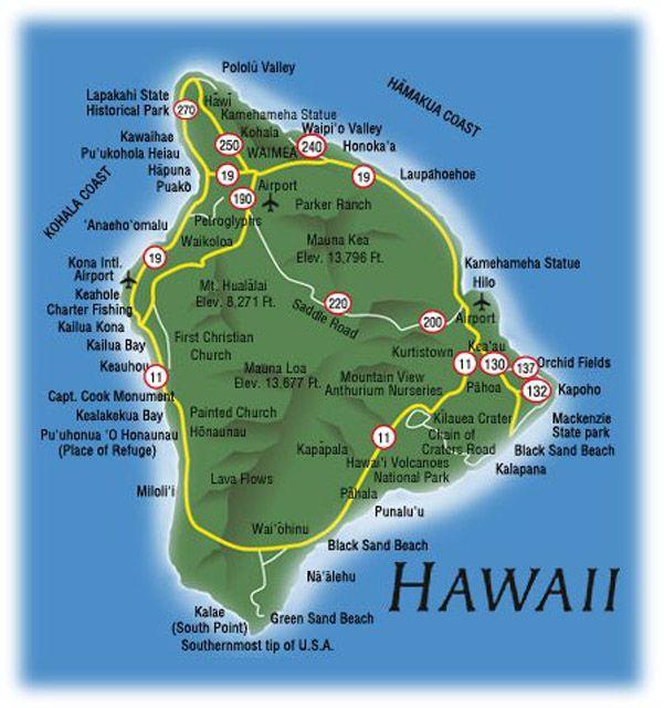 Big Island Hawaii Map Hawaiian Junk Big Island Hawaii Hilo