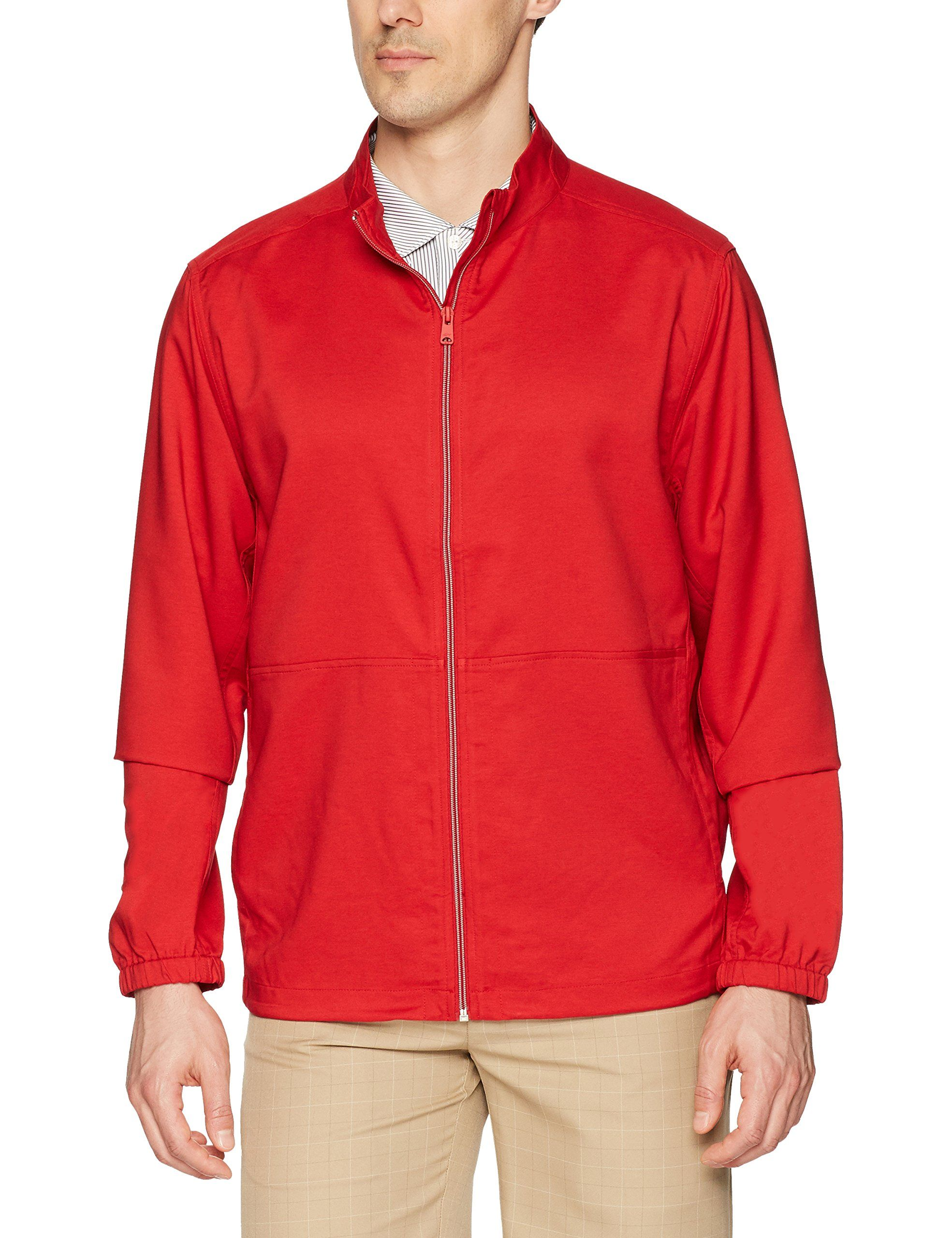 Men Golf Clothing Greg Norman Mens Full Zip Windbreaker Jacket
