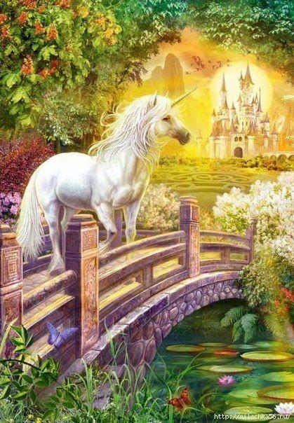 Poster Print Wall Art entitled Unicorn Garden
